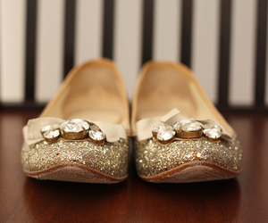 shoes, glitter, and flats image