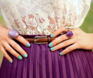 fashion, purple, and nails image