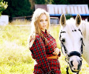 Cowgirl, freedom, and horse image