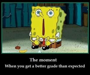 spongebob, funny, and grades image