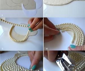 diy, pearls, and collar image