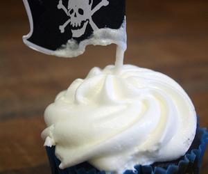 cupcake, flag, and pirates image