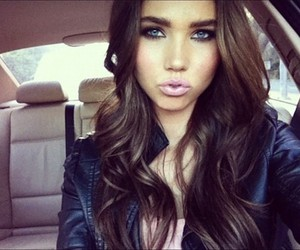 girl, pretty, and brunette image