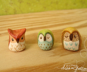 clay, gnome, and owl image