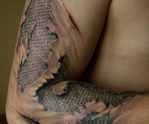 3d, lettering, and tattoo image