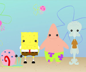 cute, sponge bob, and spongebob image