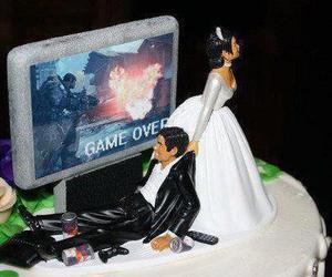 cake, wedding, and game over image