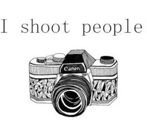camera, canon, and people image