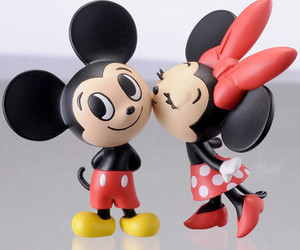 mickey, minnie, and kiss image