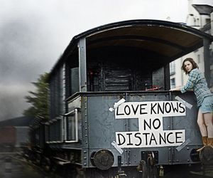 love, distance, and girl image