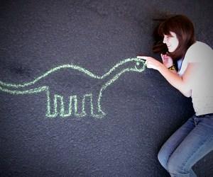 dinosaur and girl image