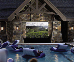 pool, house, and movie image