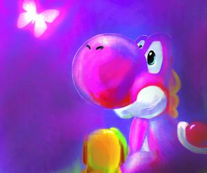 draw, pink, and yoshi image