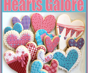 Cookies, pattern, and heart cookies image
