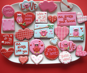 Cookies, hearts, and owls image