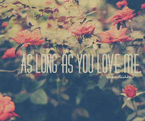 love, flowers, and as long as you love me image