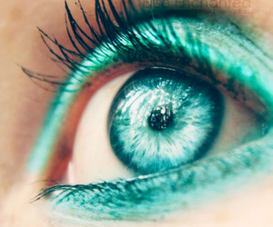 blue eye and piercing image