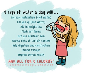 water, healthy, and fitness image