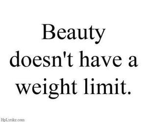 beauty, quote, and weight image