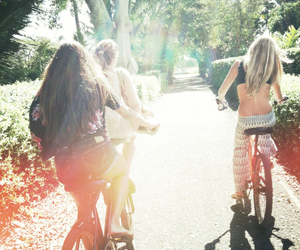 bikes, summer, and girl image