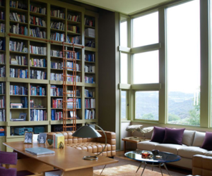 book, apartment, and big window image