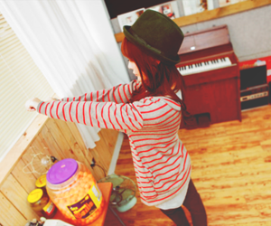 asian, hat, and cute image