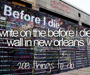 before i die, new orleans, and write image