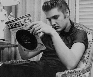 Elvis Presley, elvis, and black and white image