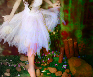 girl, fairy, and dress image