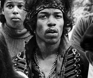 Jimi Hendrix, music, and hendrix image