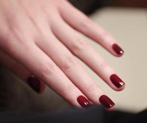 nails, hand, and red image