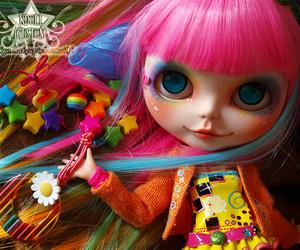blythe, doll, and rainbow image