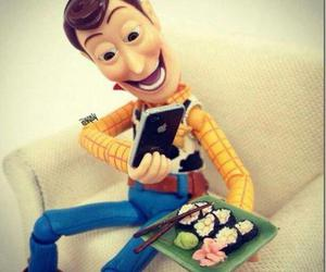 woody, sushi, and toy story image