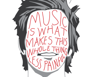 drawing, music, and quotes image