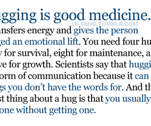 hug, quote, and hugging image