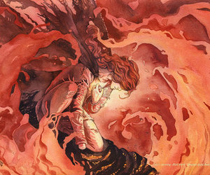 maedhros, fire, and LOTR image