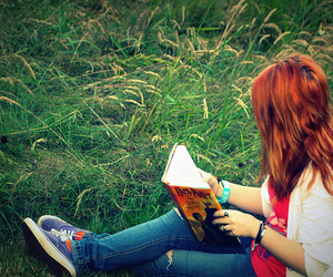 harry potter, book, and grass image