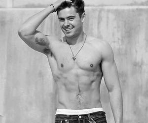 black and white, cute, and zac efron image