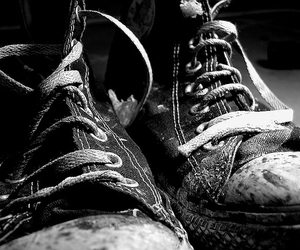 converse, black and white, and b&w image