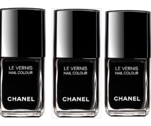 black, chanel, and nail polish image