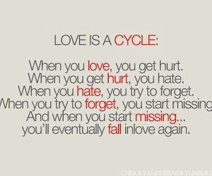 love, cycle, and quotes image
