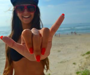 beach, nails, and style image