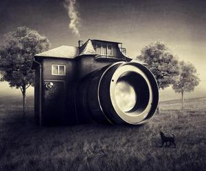 camera, house, and photography image