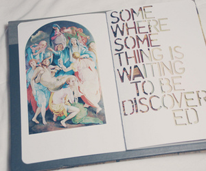 book, discover, and page image