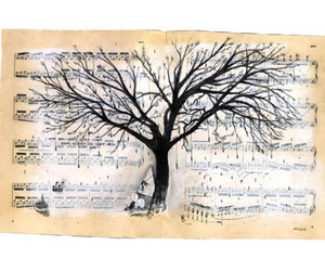 tree, art, and music image