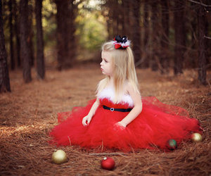 baby, red, and christmas image