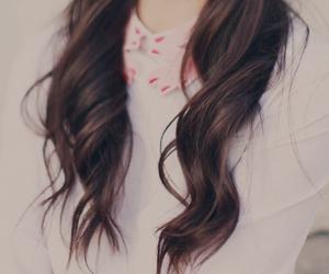 girl, hair, and kfashion image