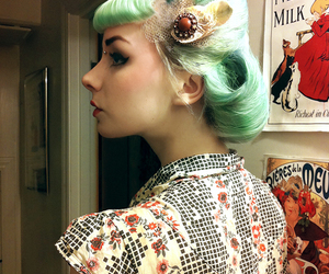 makeup, rockabilly, and bridge piercing image