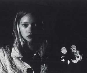 black and white, face, and Gemma Ward image