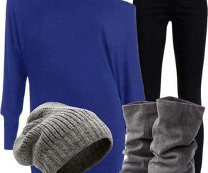 fasion and comfy blue n grey image